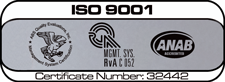 Lancaster Alloys Company, ISO 9001, Certificate Number: 32442